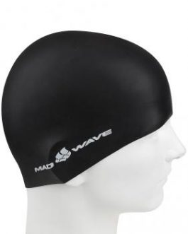 Mad Wave Silicone Intensive Swimming Cap Black
