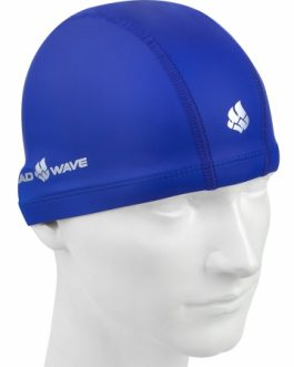 Mad Wave PU Coated Swim Cap Blue