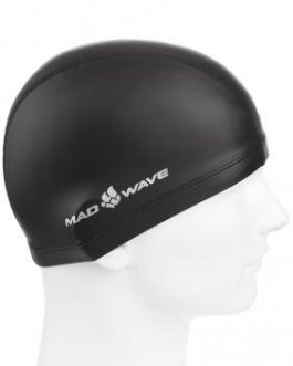 Mad Wave PU Coated Swim Cap Black