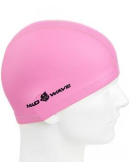 Mad Wave PU Coated Swim Cap Pink