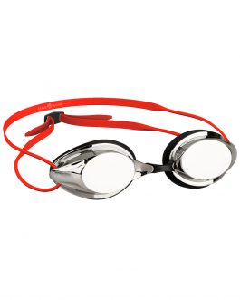 Mad Wave Streamline Mirror Racing Swimming Goggle Red