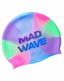 Mad Wave Silicone Swim Cap Violet