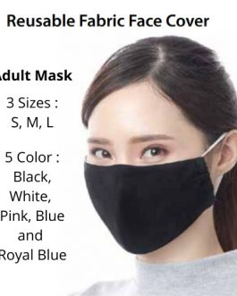 Reusable Soft Breathable Fabric Face Mask 3 Layer Protection / Youth and Adult Size